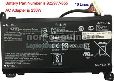 High-grade Battery for HP Omen 17-AN096ND
